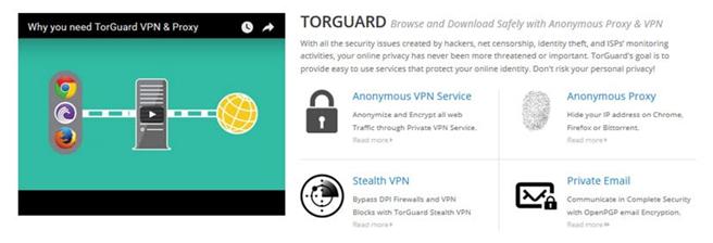 особенности TorGuard VPN
