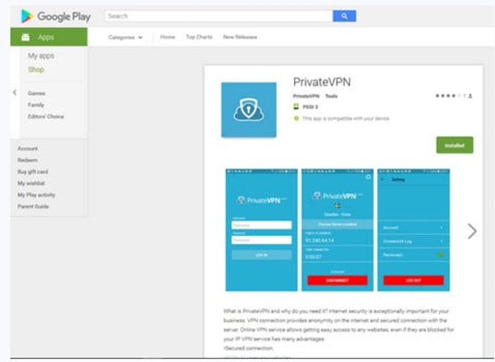 PrivateVPN приложение для андроид