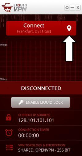 LiquidVPN выбор сервера