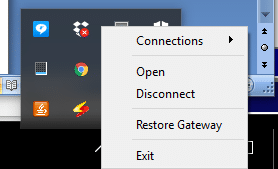 VPNac меню