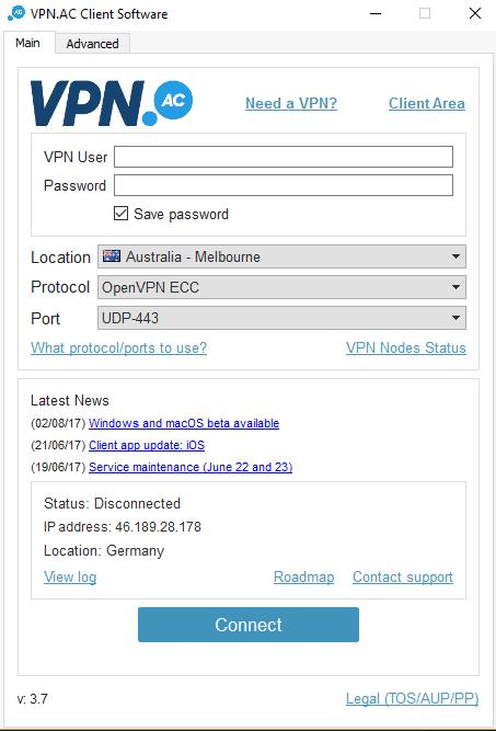 VPNac приложение