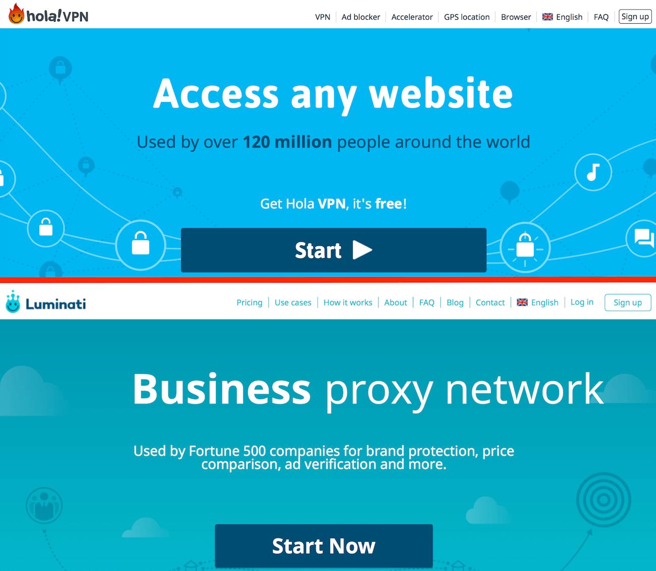 обман бесплатного vpn hola