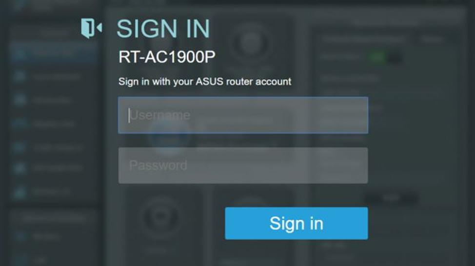 авторизация Asus RT-AC1900P
