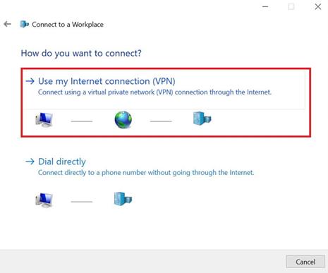 Подключение к Интернету (VPN