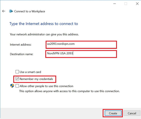 Выбор сервера для VPN