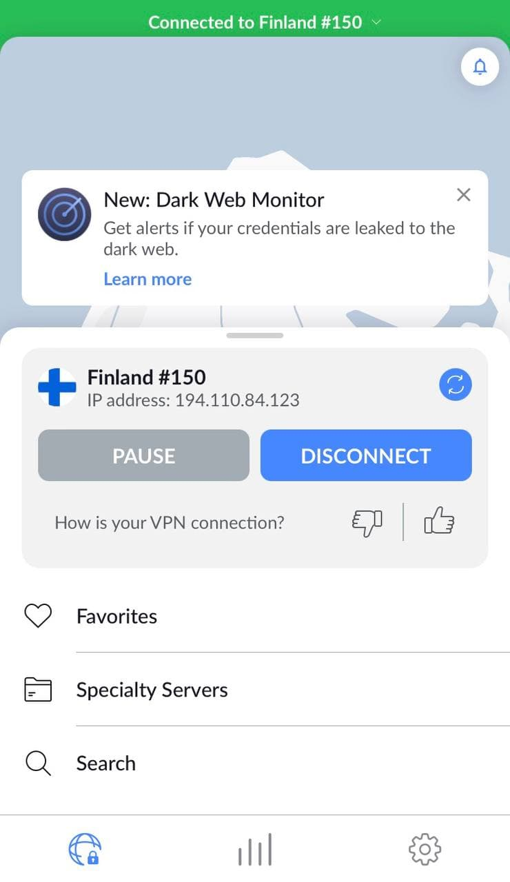 NordVPN-connected